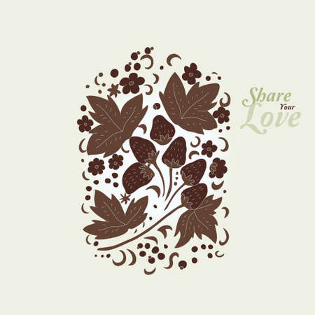 Love Flowers Elegant Card in Russian Style, SPA Stock Vector - 15743184