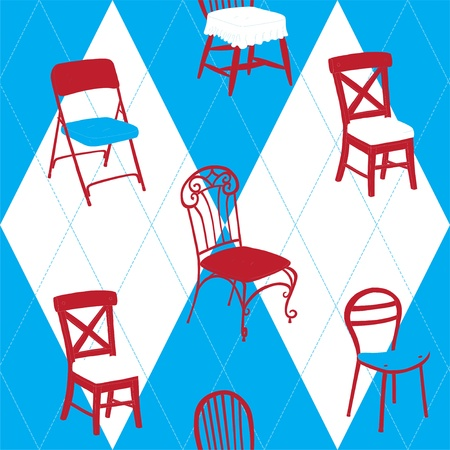 Seamless Pattern With Chairs Stock Vector - 15743198