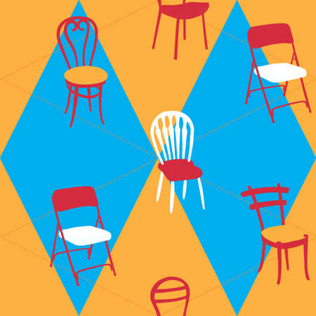 Seamless Pattern With Chairs Stock Vector - 15743188