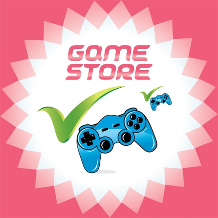 arcade games: PC and Video Baby, Child, Children, Teenager, Family Arcade Games Accept Icons With Joystick, Logo for Web and Print Design