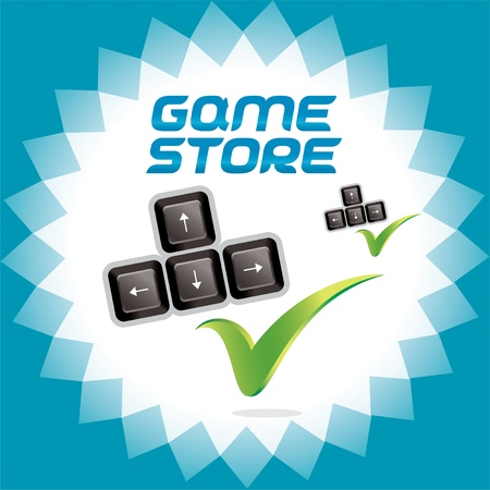 arcade games: PC and Video Baby, Child, Children, Teenager, Family Arcade Games Accept Icons, Logo With Keyboard