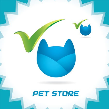 Glossy Pet Shop Accept Icons, Button, Logo for Family, Baby, Children, Teenager, People Stock Vector - 15743116