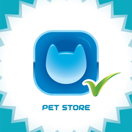 Glossy Pet Shop Icons, Button, Logo Stock Vector - 15743139