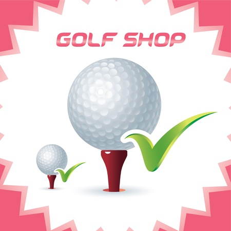 Glossy Golf Shop Icons, Button for Baby, Child, Children, Teenager, Family Stock Vector - 15881729