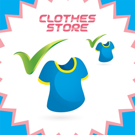 Glossy Clothes Shop Icons, Button for Baby, Child, Children, Teenager, Family Stock Vector - 15881733