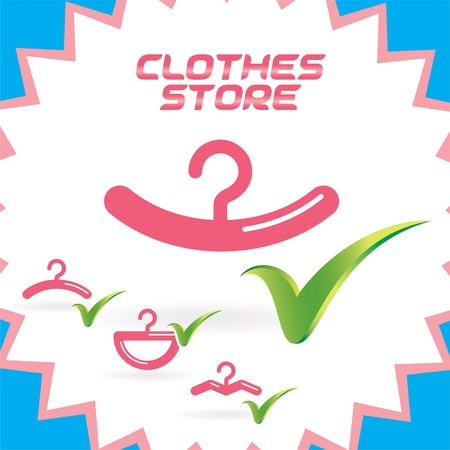 Glossy Clothes Shop Icons Set, Button for Baby, Child, Children, Teenager, Family Stock Vector - 15881706
