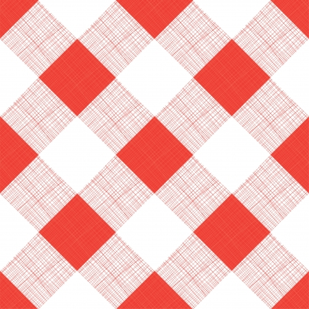 Vector Seamless Picnic Tablecloth Pattern Illustration
