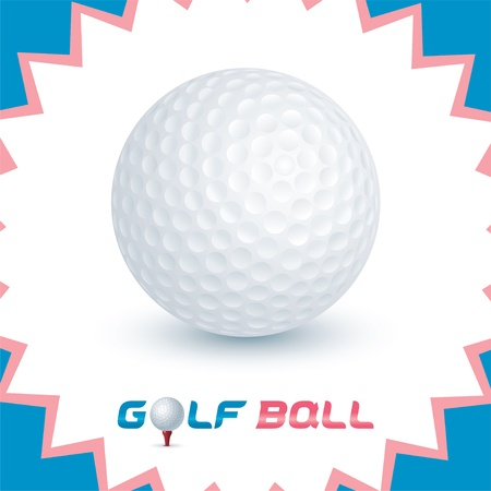 pelota de golf: Vector Brillante Iconos pelota de golf, Button, Sign, Symbol para Bebé, Niño, Niños, Adolescente, Familia