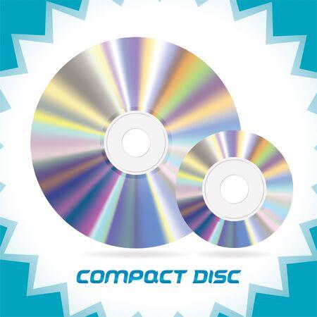discs: Two Vector Isolated Compact Discs , DVD, CD, CD-RW, DVD-RW