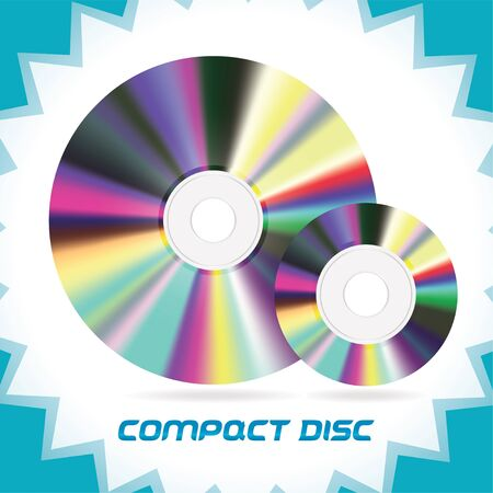 Two Vector Isolated Compact Discs , DVD, CD, CD-RW, DVD-RW Stock Vector - 16031137