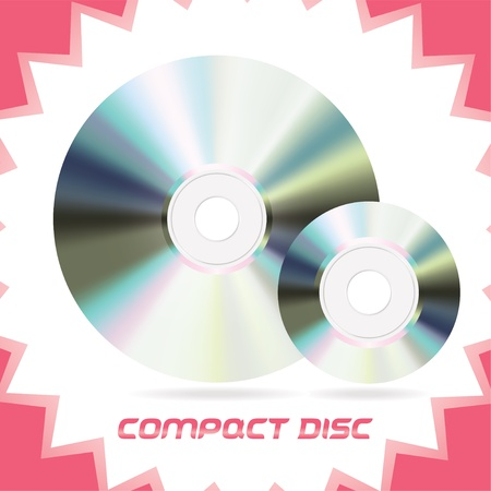 Two Vector Isolated Compact Discs , DVD, CD, CD-RW, DVD-RW Stock Vector - 16031133