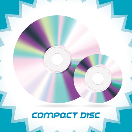Two Vector Isolated Compact Discs , DVD, CD, CD-RW, DVD-RW Stock Vector - 16031134