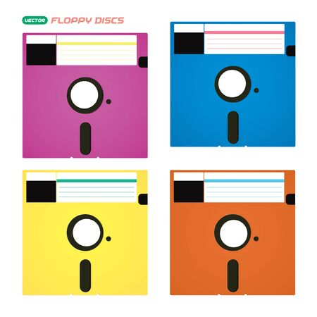 Vector Floppy Disks Illustration, Icons, Symbols Stock Vector - 16031124