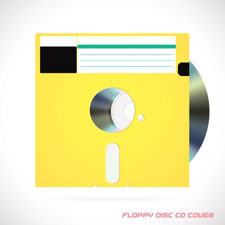 Old Fashion Floppy Disc Compact Disc, DVD, CD, CD-RW, DVD-RW Drive Cover Vector illustration, Icon, Symbol, Sticker Stock Vector - 16031128