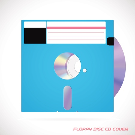 Old Fashion Floppy Disc Compact Disc, DVD, CD, CD-RW, DVD-RW Drive Cover Vector illustration, Icon, Symbol, Sticker Stock Vector - 16031130