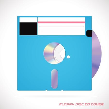 dvdrw: Old Fashion Floppy Disc Compact Disc, DVD, CD, CD-RW, DVD-RW Drive Cover Vector illustration, Icon, Symbol, Sticker