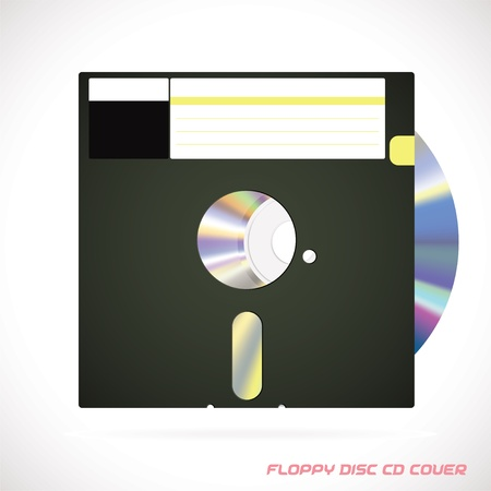 Old Fashion Floppy Disc Compact Disc, DVD, CD, CD-RW, DVD-RW Drive Cover Vector illustration, Icon, Symbol, Sticker Stock Vector - 16031131