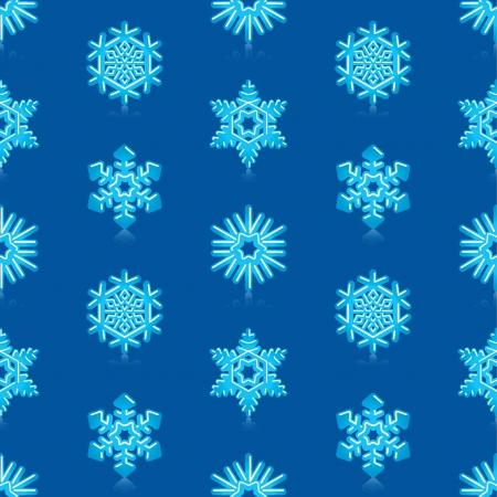 deep blue: Glossy 3d Modern Deep Blue Snowflakes Pattern Illustration