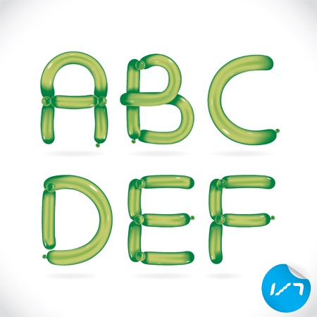 party balloons: Unique Glossy Balloon Alphabet, Letters, Illustration, Sign, Icon, Symbol for Baby, Family, Education