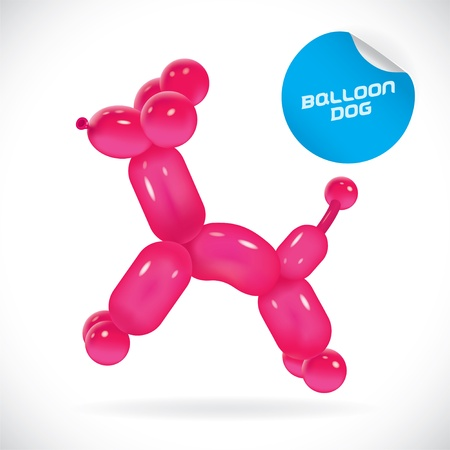 Glossy Balloon Dog Illustration, Icons, Button, Sign, Symbol, Festival Celebration, Baby, Children, Teenager, People Vector