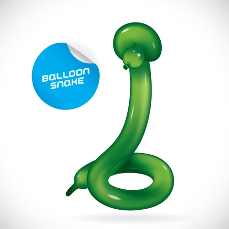 Glossy Balloon Snake Illustration, Icons, Button, Sign, Symbol, Festival Celebration, Baby, Children, Teenager, People