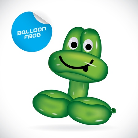 toy shop: Glossy Balloon Frog Illustration, Icons, Button, Sign, Symbol, Festival Celebration, Baby, Children, Teenager, People