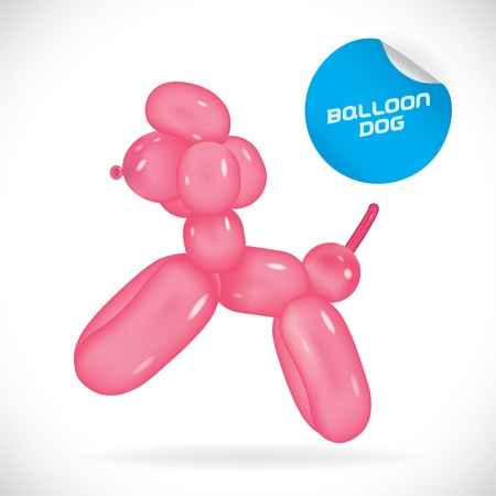 Glossy Balloon Dog Illustration, Icons, Button, Sign, Symbol, Festival Celebration, Baby, Children, Teenager, People