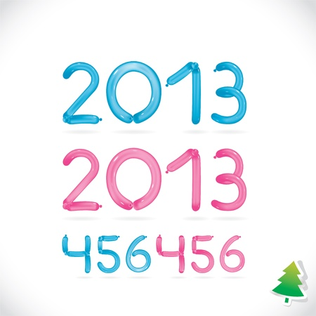 Glossy Balloon Happy New Year Date, Illustration, Digits, Number, Icon, Symbol, Family, Holiday  Illustration