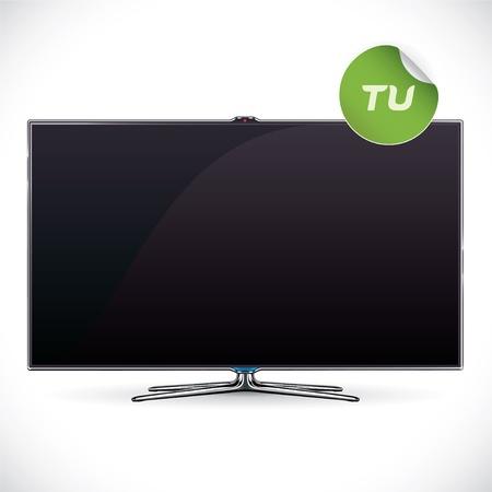 Black Glossy LCD TV Stock Vector - 17089566
