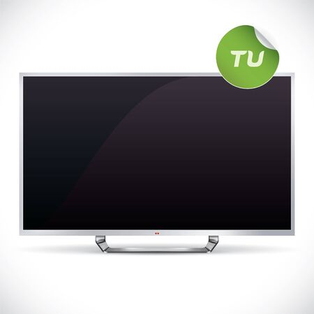 lcd tv: Black Glossy LCD TV