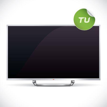 Black Glossy LCD TV Stock Vector - 17089736