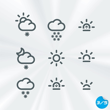 Weather Icons Collection, Button, Sign, Symbol, Emblem, Sticker, Badge, User Interface, Baby, Children, People Stock Vector - 17089664