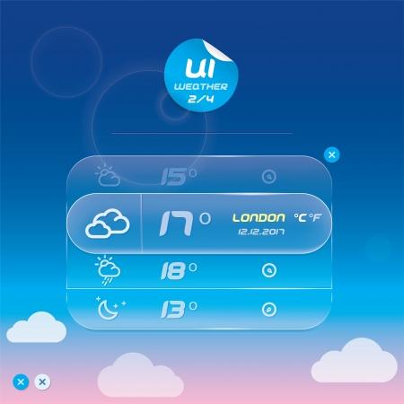 Vector Weather Widget, Button, Sign, Symbol, Emblem, Sticker, Badge, Logo for Web Design, User Interface, Mobile Phone, Baby, Children, People Stock Vector - 17089868