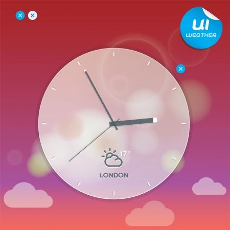 widget: Weather Widget Illustration, Button, Symbol, Emblem, Sticker, Badge, User Interface, Mobile Phone, Baby, Children, People  Illustration
