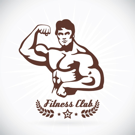 Bodybuilder Fitness Model  Stock Vector - 17743161