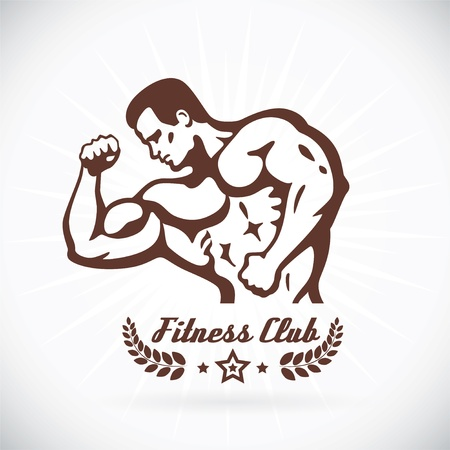 Bodybuilder Fitness Model  Stock Vector - 17743119