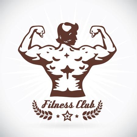 bodybuilder man: Bodybuilder Fitness Model Illustration