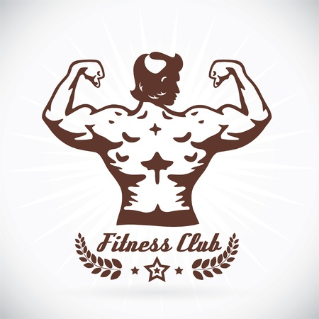 Illustration du modèle bodybuilder fitness Banque d'images - 17744486