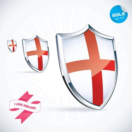 I Love England Flag Illustration Stock Vector - 17744442