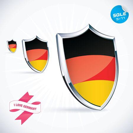 I Love Germany Flag Illustration Stock Vector - 17744427