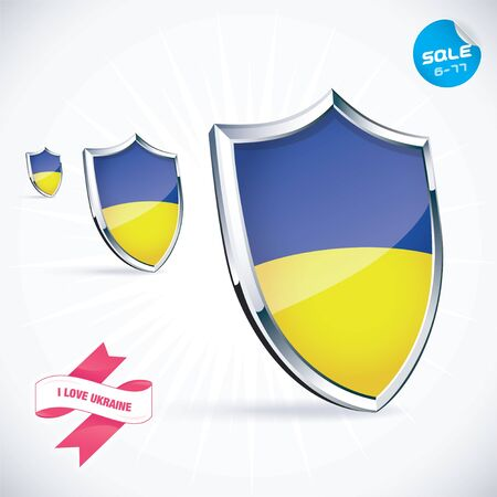 I Love Ukraine Flag Illustration Vector