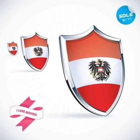 I Love Austria Flag Illustration Vector