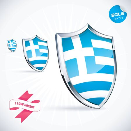 I Love Greece Flag Illustration Stock Vector - 17744437