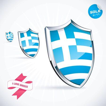 I Love Greece Flag Illustration Stock Vector - 17744437