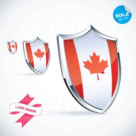 I Love Canada Flag Illustration Vector