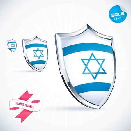 I Love  Israel Flag Illustration Stock Vector - 17744426