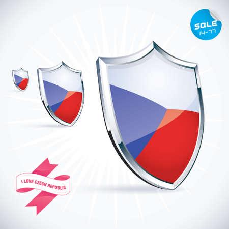 I Love Czech Republic Flag Illustration Vector