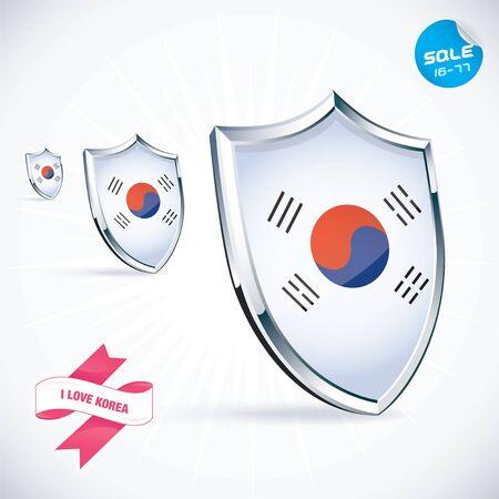 I Love Korea Flag Illustration Stock Vector - 17744435