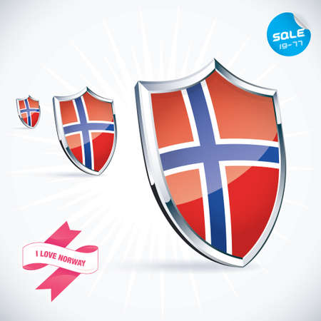 I Love Norway Flag Illustration Vector