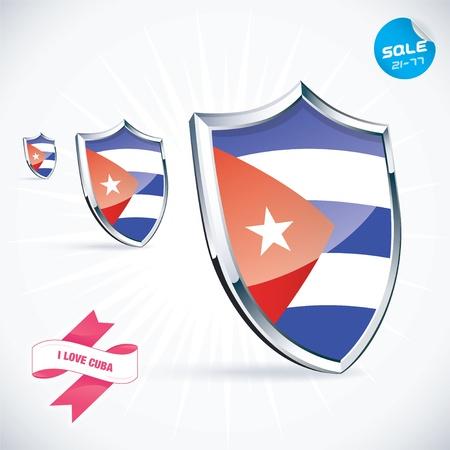 bandera cuba: Amo la ilustraci�n de la bandera de Cuba